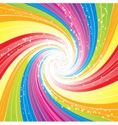 Rainbow swirl background vector