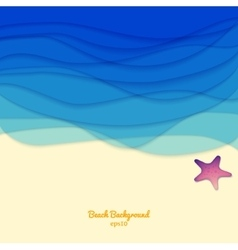 Sea sand and a starfish vector