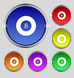 Eightball billiards icon sign round symbol on vector