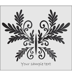 abstract stylized butterfly vector image