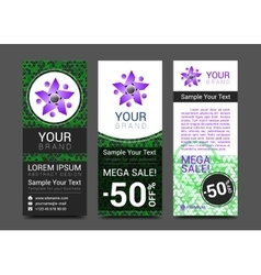 Set of vertical banners for your business to vector