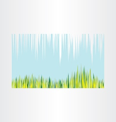 Spring grass and sky abstract background vector