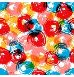 Colorful grunge overlapping circles brush strokes vector