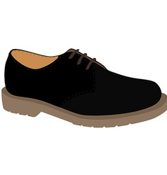 Black shoe vector
