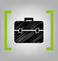 Briefcase sign black vector