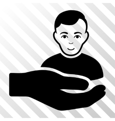 Customer support hand icon vector