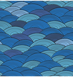 Dark waves vector image vector image