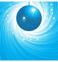 disco ball swirl vector image vector image