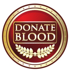 Donate Blood Red Label vector image vector image