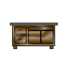 Drawing desk furniture work office image vector