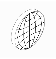 Earth globe emblem icon isometric 3d style vector