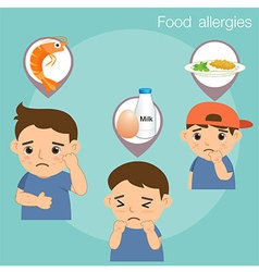 Food Allergies vector image vector image
