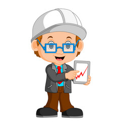 Funny architect cartoon vector
