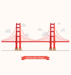 Golden gate bridge vector