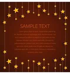 Golden stars background with place for text vector image vector image