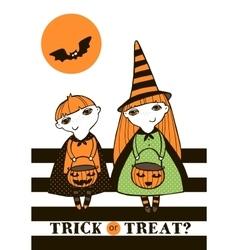 Halloween with kids vector