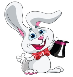 Hare magician on a white background vector