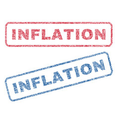 Inflation textile stamps vector