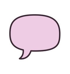isolated cute chat bubble vector image vector image