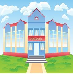 modern school building vector image