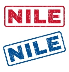 Nile rubber stamps vector