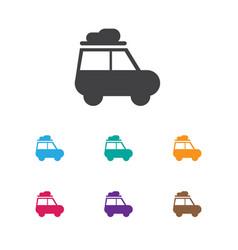 Of travel symbol on caravan vector