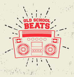 old school beats vintage stamp vector image vector image