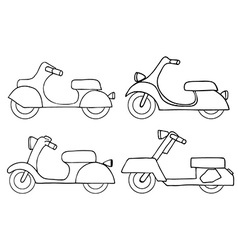 Scooter Icon Set vector image