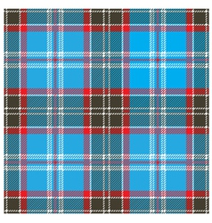 Seamless Blue Tartan Pattern Design vector image