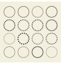 Set of circle border decorative symbol patterns vector image