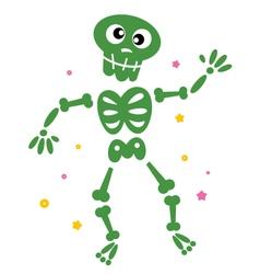 Skeleton cartoon vector
