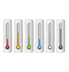 thermometers in vector image