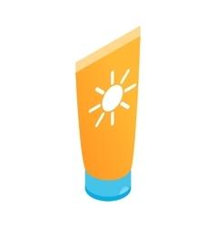Tube with sunbathing cream icon vector image
