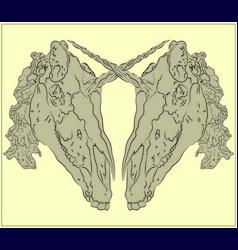Unicorn skulls vector