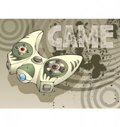 video game joystick vector image vector image
