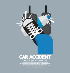 Water bottle cause car accident vector