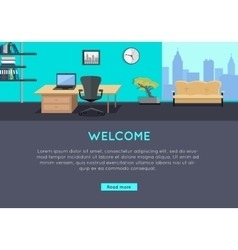 Welcome Concept in Flat Style Design vector image