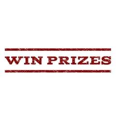 Win prizes watermark stamp vector