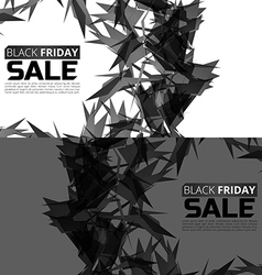 Black friday sale banner set abstract triangle vector