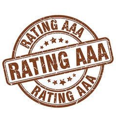 Rating aaa stamp vector