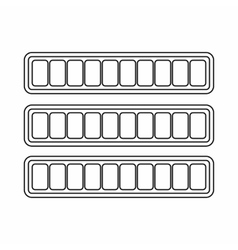 Sign horizontal columns download online icon vector