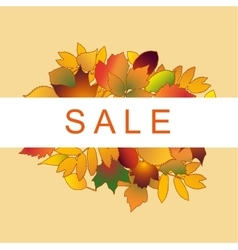 Foliage sale banner vector