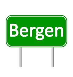 Bergen road sign vector