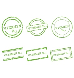 Vitamin b12 stamps vector
