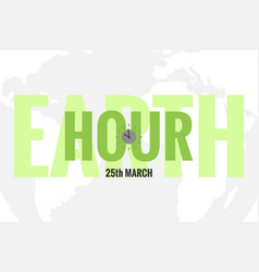 Template of earth hour or daylight saving time vector
