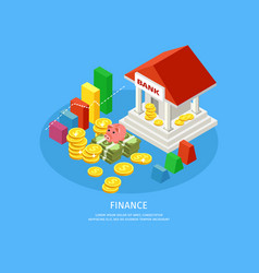 Isometric financial elements concept vector