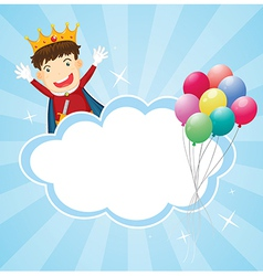 A stationery with a king and balloons vector