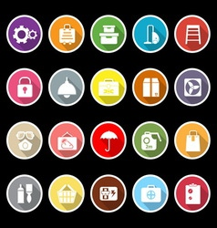 Home storage icons with long shadow vector