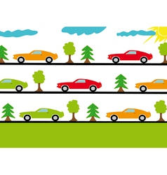 Colored sport cars vector