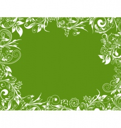 frame floral for design vector image